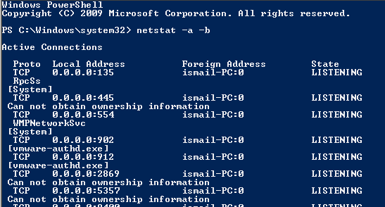 How To Find Out Which Proccess is Listening On A Port for Windows?