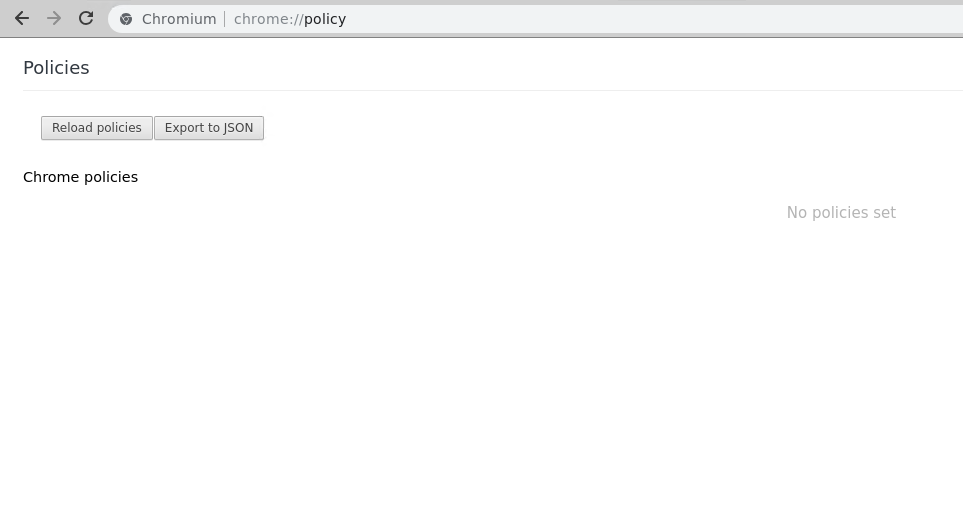 Policy -chrome://policy
