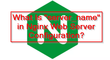 """What Is """"server_name"""" in Nginx Web Server Configuration?"""