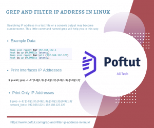 Grep and Filter IP Address In Linux Infografic