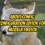 about:config Configuration Editor For Mozilla Firefox